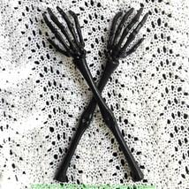 Halloween Gothic SKELETON HAND ARMS TONGS SERVER Kitchen Utensil Tablewa... - $5.91