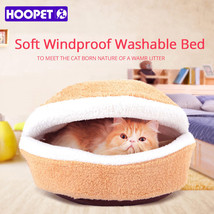 HOOPET® Warm Cat Bed House Hamburger Bed Disassemblability Windproof Pet... - $33.79