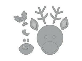 Spellbinders Reindeer Die Set #S3-358 image 2