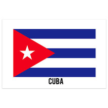 Cuba Country Flag Wall Art Poster - $18.32+