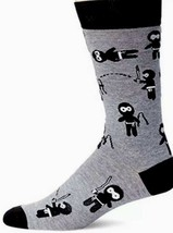 Ninja Theme K. Bell Socks Men's Original Novelty Crew Socks - - $8.91