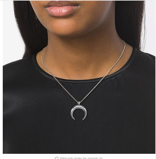 Risul Fashion OX Horn Charm Necklaces& pendants for Women Moon Necklaces Box Cha
