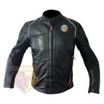 INETR MILAN FOOTBALL CLUB COWHIDE LEATHER MOTORBIKE MOTORCYCLE ARMOURED ... - $209.99
