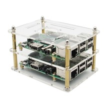Double Layer Acrylic Case For Raspberry Pi 3 Model B 2B And B+ V35 Versi... - $12.70