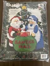 1994 Bucilla Felt Applique Kit #83269 Santa's Mailbag - $55.00