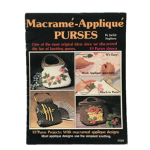 Macrame Appliqué Purses Guide Book By Jackie Stephens 19 Knotting Patter... - $10.39