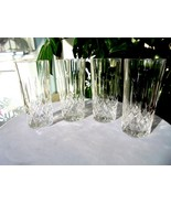 "Set of 4 Vintage High Quality Crystal Highball Glasses 5 3/4"" Tall - $34.65"
