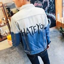 Jamickiki New Autumn Fashion Men's Washed Jeans Coat, Jacket. Blue - $41.10