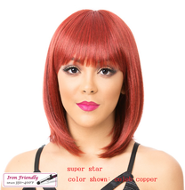 IT'S A WIG SUPER STAR SYNTHETIC BOB STYLE  W BANG SHORT LENGTH WIG IRON FRIENDLY