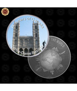WR Wonders of Canada Notre-dame Basilica Collectible Silver Coin Acrylic... - $7.41