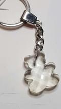 teddy bear  lead crystal  keychain keyring