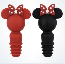 Disney Parks Minnie Mouse Silicone Bottle Stopper Set of 2 NEW - $19.90