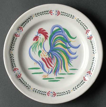 Vintage Sunrise Rooster Dinner Salad Side Plate by Century Stoneware Cou... - $6.99
