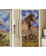 Western Running Horses Kitchen Refrigerator Magnet Side by Side - $17.95