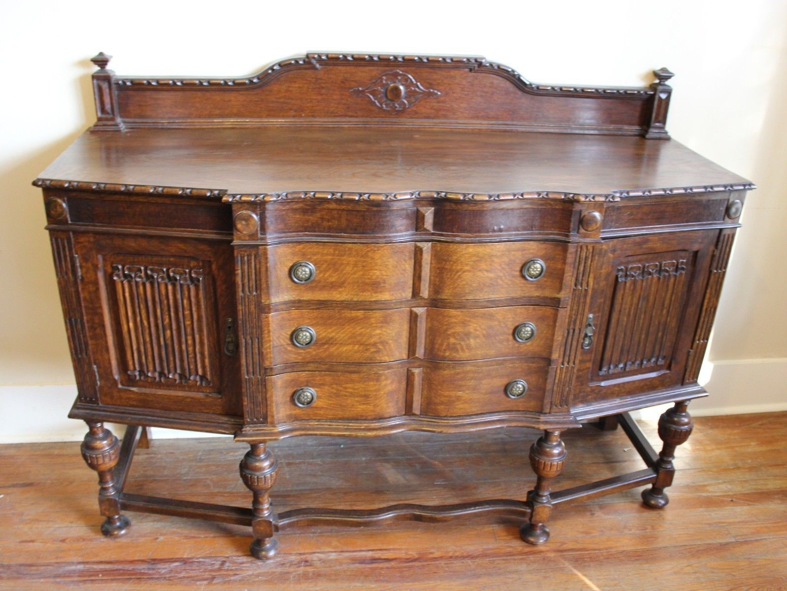 english antique jacobean sideboard buffet and 50 similar items. Black Bedroom Furniture Sets. Home Design Ideas