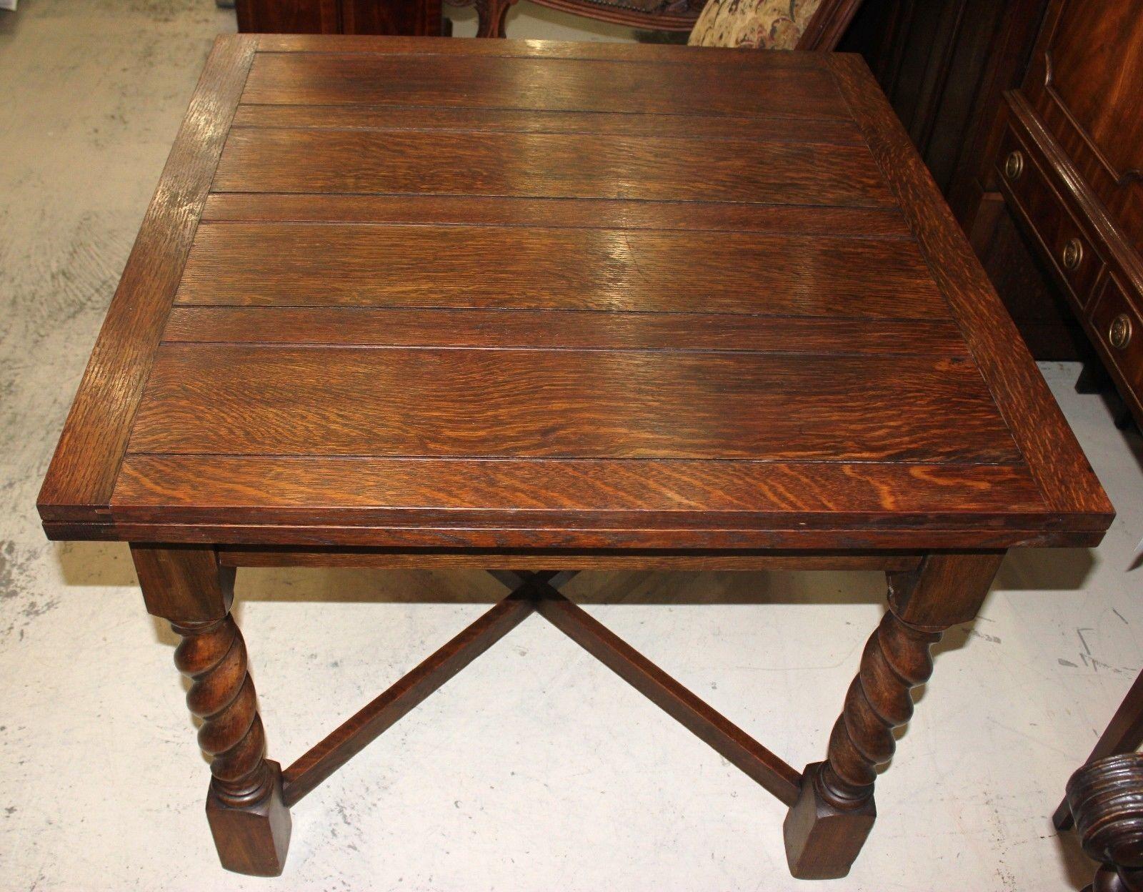 English antique oak draw drop leaf dining table with for Antique drop leaf dining table