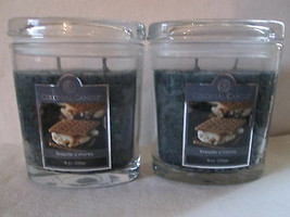 2 Colonial Candle~~FIRESIDE S'MORES~~ 8oz Oval Jar Candles, FREE SHIPPING  - $30.00