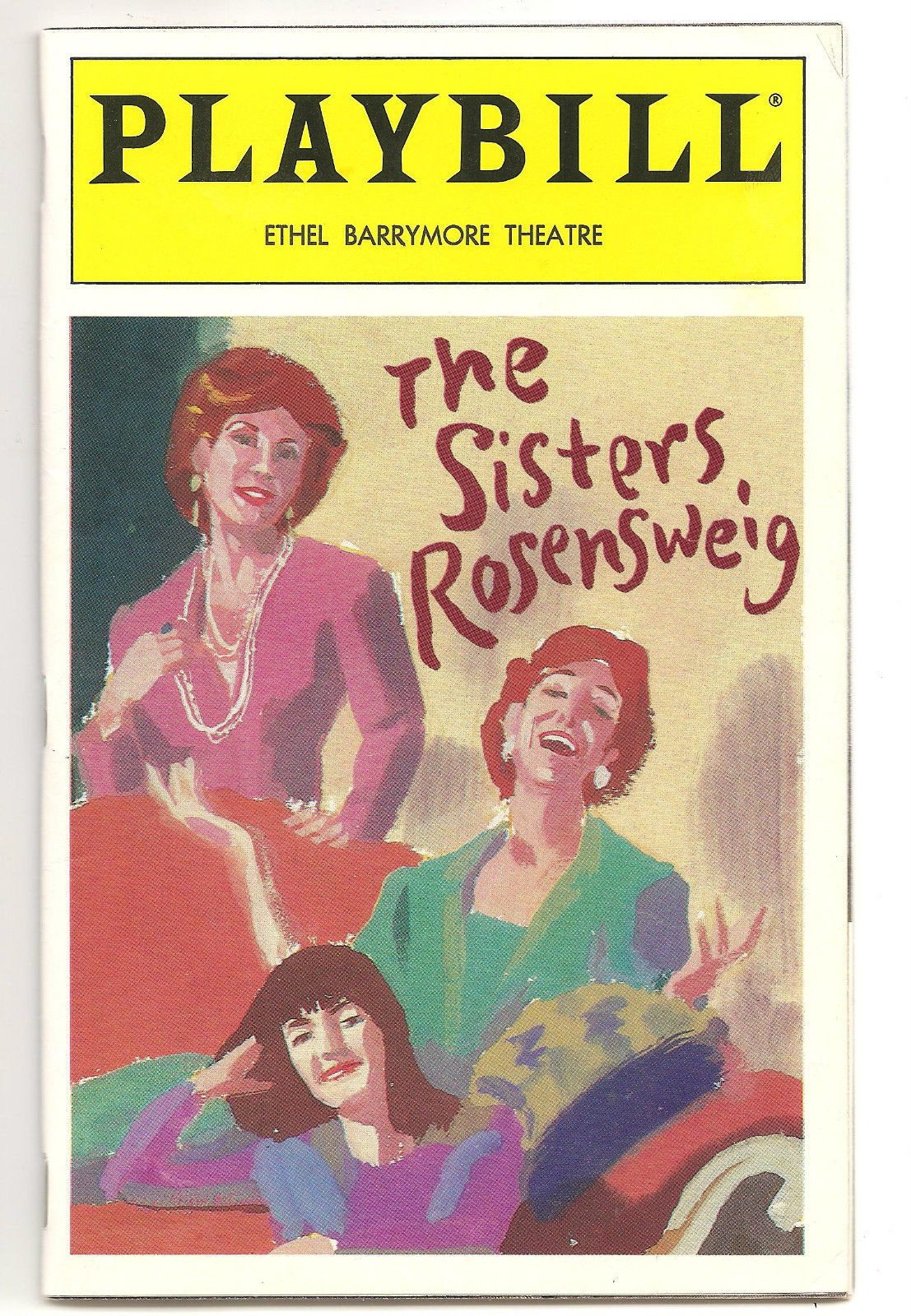 Playbill THE SISTERS ROSENWEIG  National Theatre Sept 1993