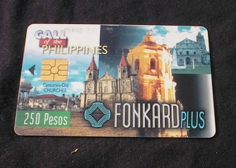 PHILIPPINES - PLDT Phonecard P250 Tourism Series - Old Churches USED No Value