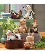 Set Of 6 Hand Painted Animal Shelf Sitters - $19.95