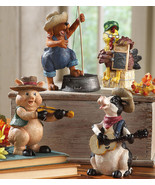 Down On The Farm Country Band Collectible Sitters - $19.95