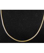 STUNNING VINTAGE ESTATE 14K YELLOW GOLD BOX LINK NECKLACE 9.9g  E2595 - $600.00