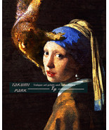 Girl With Pearl Earring, Squirrel Photo Bomb of Dutch Painting by Vermee... - $15.88+