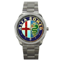 Alfa Romeo Car logo Custom Sport Metal Men Watch  - $15.00