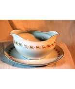 Fine China Of Japan Judi 16 oz Gravy Boat With Attached Under Plate - $10.39