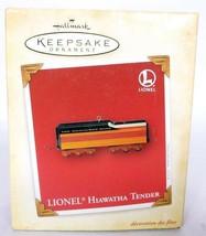 Hallmark Keepsake Christmas Ornament Lionel Hiawatha Tender Train - $18.00