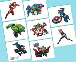 Epic Avengers Temporary Tattoos 8 Ct Birthday Party Favors - $2.49