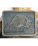 Vintage Lancer Texas Armadillo Belt Buckle Brass 1970s   - $15.95