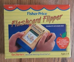 Vintage 1989 Fisher Price Flashcard Flipper Toy #6670 vntg 80's Kid - $15.00