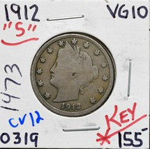 1912S Liberty Nickel 5¢ Actual Coin Pictured Lot# CV12