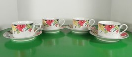 Mikasa EVENING DEBUT Cup and Saucer Set (s) LOT OF 4 M5104 - $29.65