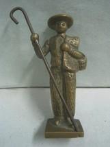 Antique  Sculpture Statue Figurine  Shepherd in bronze - $18.05