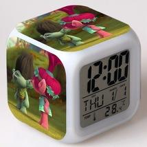Trolls Toys Movie Cartoon #12 Led Alarm Clock Figures LED Alarm Clock - $25.99