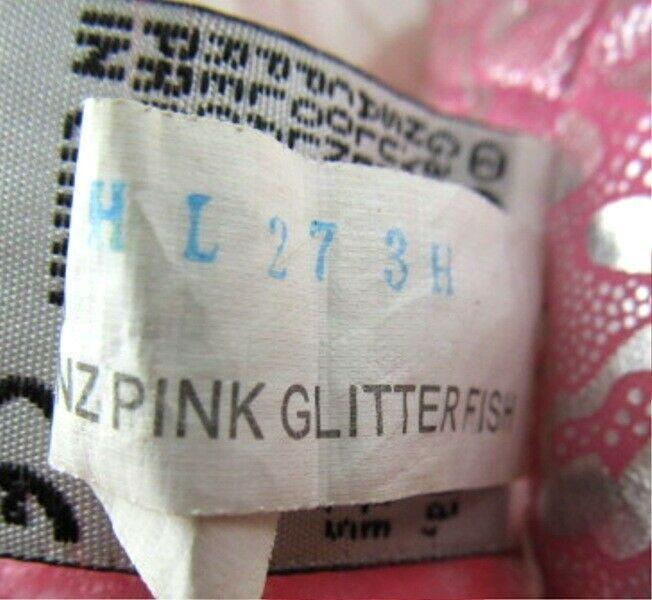 Pink Glitter Fish Webkinz Lil'Kinz HS525 Beanbag Plush Stuffed Animal No Code