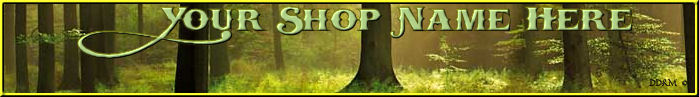 Green Forest  website Shop custom made banner Forest 1