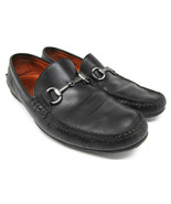 Peter Millar Mens Black Leather Moc Toe Horsebit Loafers Size US 8.5 M - $44.10