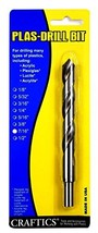 "7/16"" Drill Bit for Plastic Acrylics, Plexiglas, Lexan, ABS, PVC, and Mo... - $41.66"