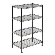 4 Tier Metal Storage Rack Adjustable Shelf Home Kitchen Organizer Garage... - $42.61