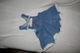 Girls Toddler Blue Denim Jumper Size 4 - $10.99