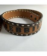 Big John Womens Belt Size 30 Name Sandra Saddle Leather Tooled Floral St... - $38.61