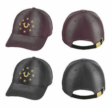 True Religion Men's Metallic Embroidered Star Logo Cap Sports Strapback Hat