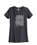 Thread Tank Home Roots State Arizona Women's Relaxed T-Shirt Tee Charcoa... - $24.99+