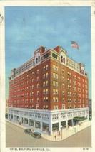 Hotel Wolford, Danville, Illinois 1935 used linen Postcard  - $4.99