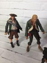 NECA Disney Pirates of The Caribbean Action Figure Lot Ragetti Blackbeard Maccus - $67.31