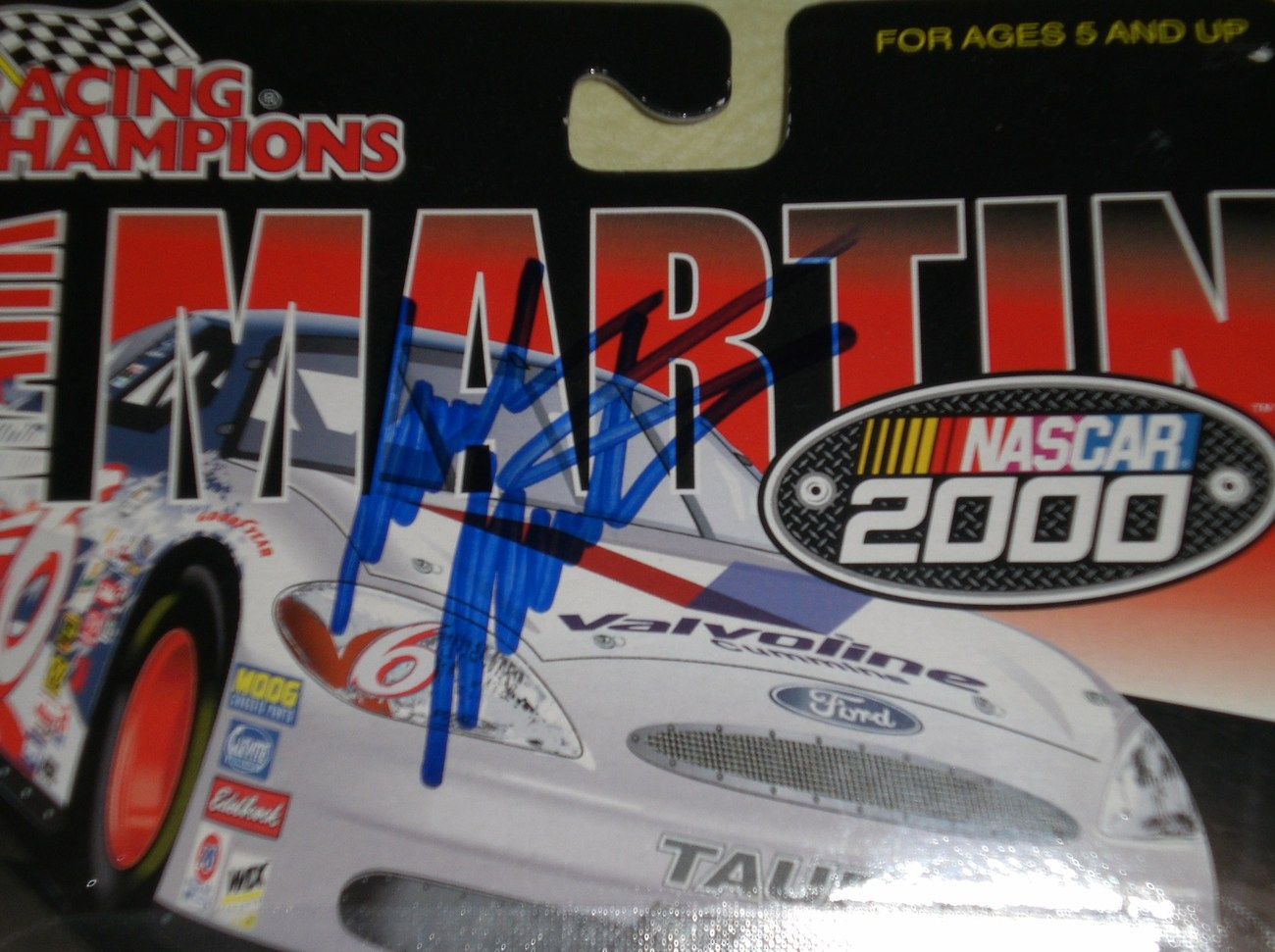 Mark Martin AUTOGRAPHED 1/64 Nascar diecast car image 2