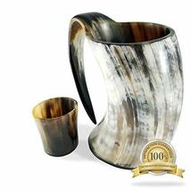 Buddha4all 36 oz Viking Drinking Horn Ale Tankard With Free Horn Shot Glass - $39.59